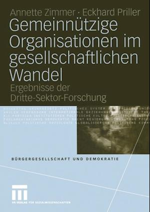 Gemeinnutzige Organisationen im gesellschaftlichen Wandel af Eckhard Priller, Annette E. Zimmer