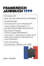 Frankreich-Jahrbuch 1999 af Lothar Albertin, Hans Manfred Bock, Wolfgang Asholt