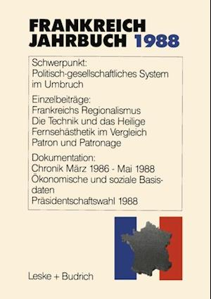 Frankreich-Jahrbuch 1988 af Adolf Kimmel, Lothar Albertin, Gilbert Ziebura