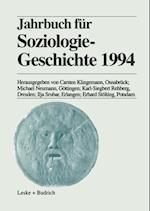 Jahrbuch fur Soziologiegeschichte 1994 af Michael Neumann, Erhard Stolting, Ilja Srubar
