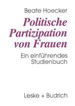 Politische Partizipation Von Frauen af Beate Hoecker
