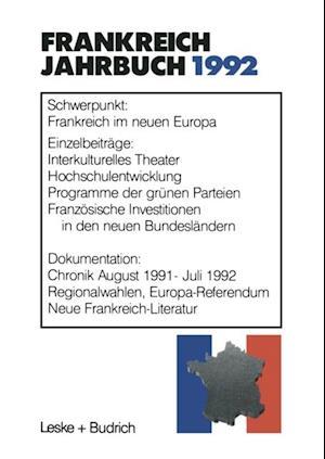 Frankreich-Jahrbuch 1992 af Deutsch-Franzosisches Institut