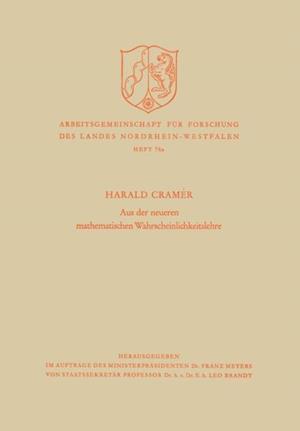 Aus der neueren mathematischen Wahrscheinlichkeitslehre af Harald Cramer