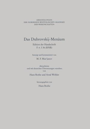 Das Dubrovskij-Menaum af M.F. Murjanov