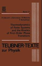 Thermodynamics of Finite Systems and the Kinetics of First-Order Phase Transitions af Frank Schweitzer, Jurn Schmelzer