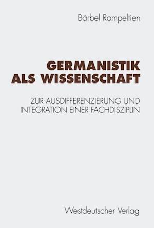 Germanistik als Wissenschaft