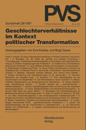 Geschlechterverhaltnisse im Kontext politischer Transformation
