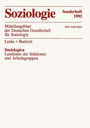 Sociologica af Bernhard (Hrsg.) Schafers