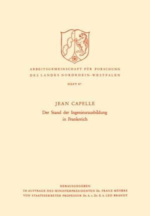 Der Stand der Ingenieurausbildung in Frankreich af Jean Capelle
