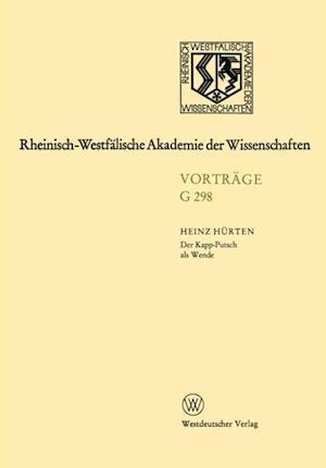 Der Kapp-Putsch als Wende af Heinz Hurten