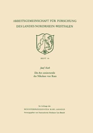Die Ars coniecturalis des Nikolaus von Kues af Josef Koch