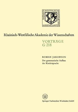 Der grammatische Aufbau der Kindersprache af Roman Jakobson