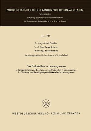 Die Dickstellen in Leinengarnen af Adolf Funder