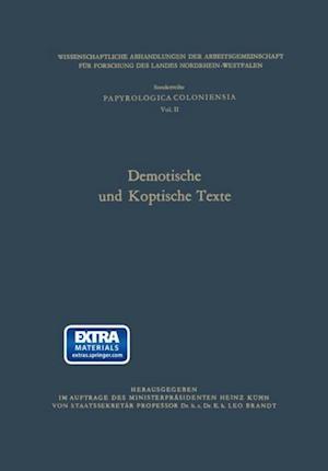 Demotische und Koptische Texte af Leo (Hrsg.) Brandt
