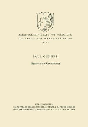 Eigentum und Grundwasser af Paul Gieseke