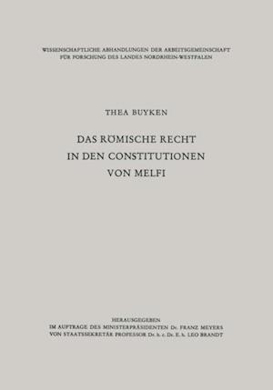 Das romische Recht in den Constitutionen von Melfi af Thea ˜von derœ Lieck-Buyken