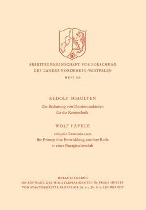 Die Bedeutung von Thoriumreaktoren fur die Kerntechnik af Rudolf Schulten