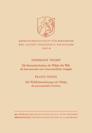 Die Bestandsaufnahme der Walder der Welt als internationale und wissenschaftliche Aufgabe af Hermann Tromp