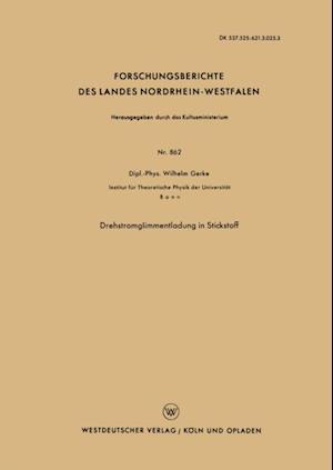 Drehstromglimmentladung in Stickstoff af Wilhelm Gerke