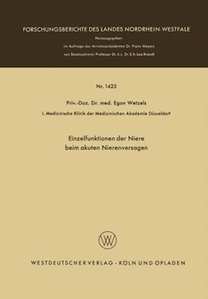 Einzelfunktionen der Niere beim akuten Nierenversagen af Egon Wetzels
