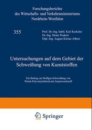 Untersuchungen auf dem Gebiet der Schweiung von Kunststoffen af Karl Krekeler