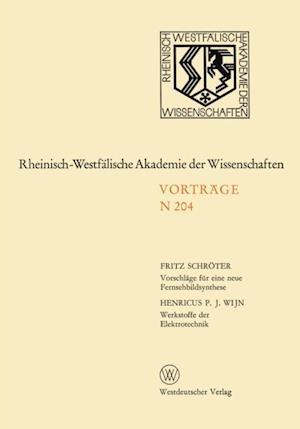 Vorschlage fur eine neue Fernsehbildsynthese af Fritz Schroter