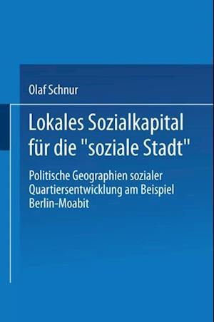 Lokales Sozialkapital fur die soziale Stadt' af Olaf Schnur