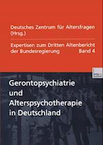 Gerontopsychiatrie und Alterspsychotherapie in Deutschland