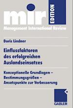 Einflussfaktoren Des Erfolgreichen Auslandseinsatzes af Doris Lindner-Lohmann