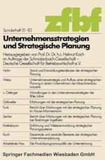 Unternehmensstrategien Und Strategische Planung