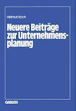 Neuere Beitrage zur Unternehmensplanung af Helmut Koch