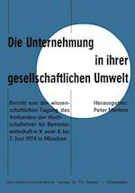 Die Unternehmung in Ihrer Gesellschaftlichen Umwelt af Peter Mertens