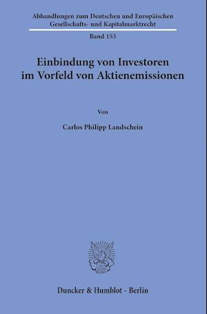 Einbindung von Investoren im Vorfeld von Aktienemissionen.