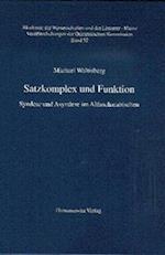 Satzkomplex Und Funktion af Michael Waltisberg