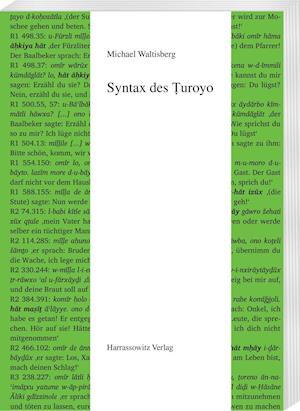 Bog, paperback Syntax Des Turoyo af Michael Waltisberg