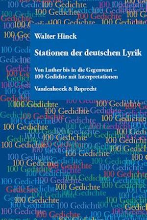 Bog, hardback Stationen Der Deutschen Lyrik af Walter Hinck