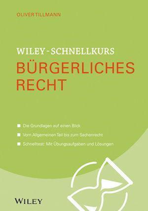 Bog, paperback Wiley-Schnellkurs Burgerliches Recht