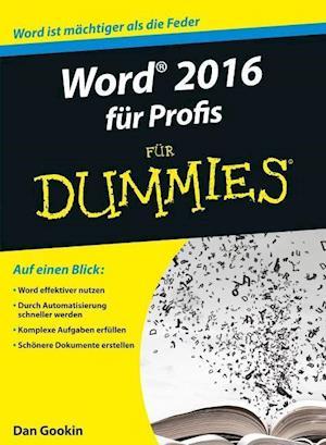Bog, paperback Word 2016 fur Profis fur Dummies