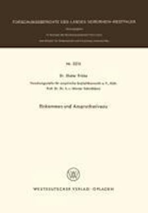 Bog, paperback Einkommen Und Anspruchsniveau af Dieter Fricke