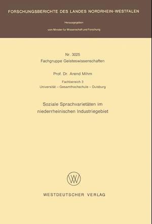 Soziale Sprachvarietäten Im Niederrheinischen Industriegebiet