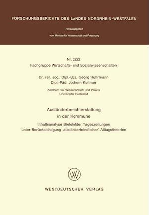 Bog, paperback Auslanderberichterstattung in Der Kommune af Georg Ruhrmann
