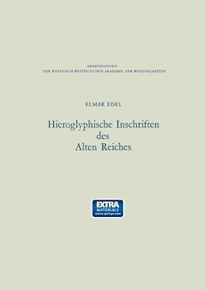 Hieroglyphische Inschriften Des Alten Reiches