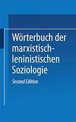 Worterbuch Der Marxistisch-Leninistischen Soziologie af Georg Amann