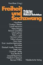 Freiheit und Sachzwang af Horst Baier