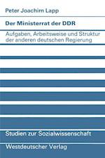 Der Ministerrat Der Ddr af Peter Joachim Lapp, Peter Joachim Lapp