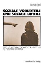 Soziale Vorurteile Und Soziale Urteile af Bernd Estel