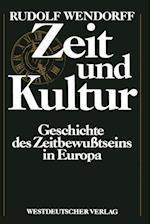 Zeit Und Kultur af Rudolf Wendorff