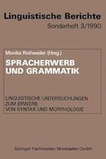 Spracherwerb Und Grammatik af Monika Rothweiler, NA NA, NA NA