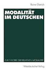 Modalitat Im Deutschen af Rainer Dietrich
