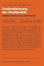 Festivalisierung Der Stadtpolitik